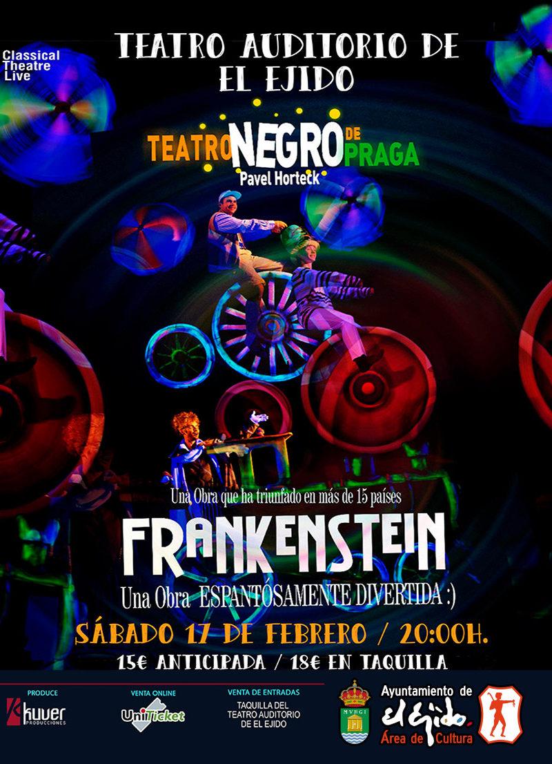 """Teatro Negro de Praga """"Los sueños del Dr. Frankenstein"""" – Sábado 17 de febrero, Auditorio de El Ejido 20 h"""