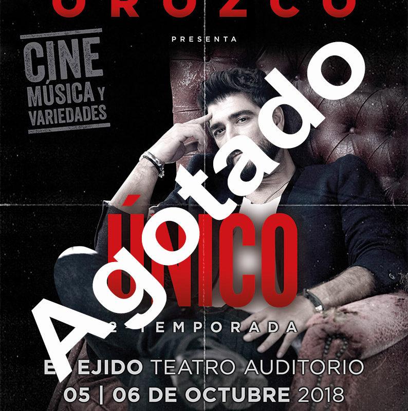 """Antonio Orozco """"Único"""" – Viernes 5 y sábado 6 de octubre, Auditorio de El Ejido 21:30 h"""