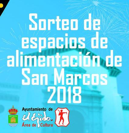 Sorteo espacios alimentación San Marcos 2018