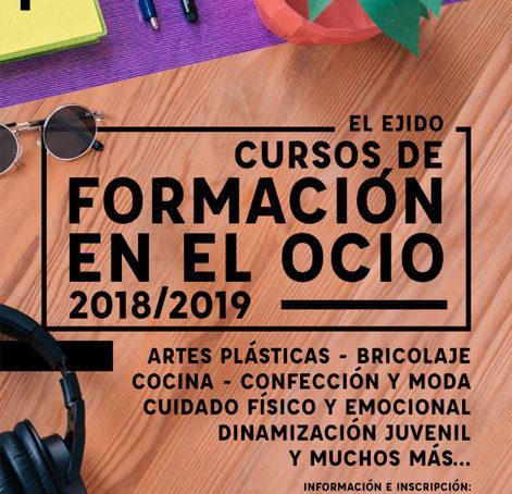 Cursos de formación en el ocio 2018/19