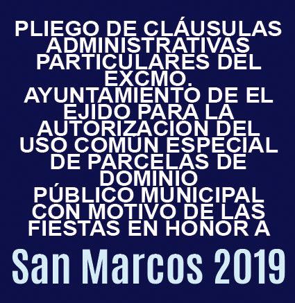 Pliego de condiciones de adjudicación de San Marcos 2019