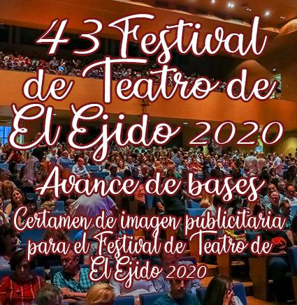 AVANCE DE BASES del certamen de imagen publicitaria para el Festival de Teatro de El Ejido 2020