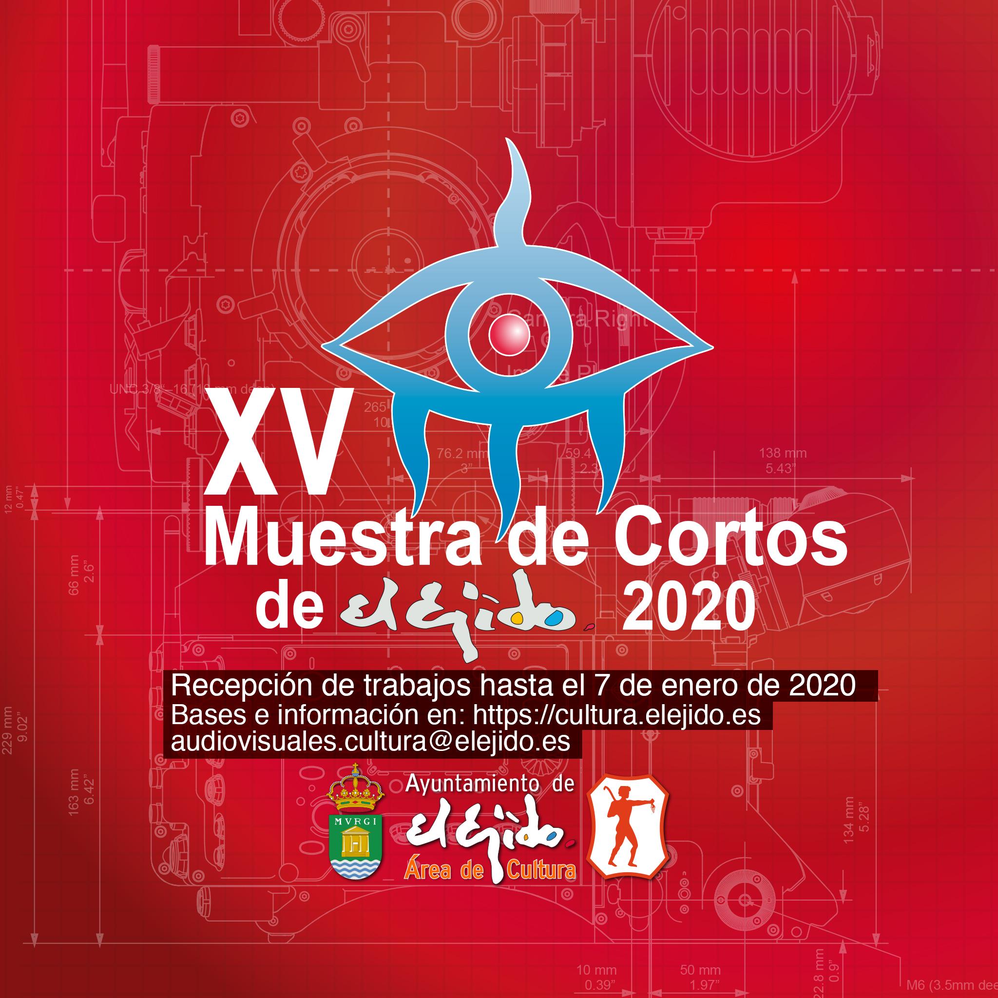 Avance de Bases de la XV Muestra de Cortos de El Ejido 2020 – Recepción de trabajos hasta el 07/01/2020
