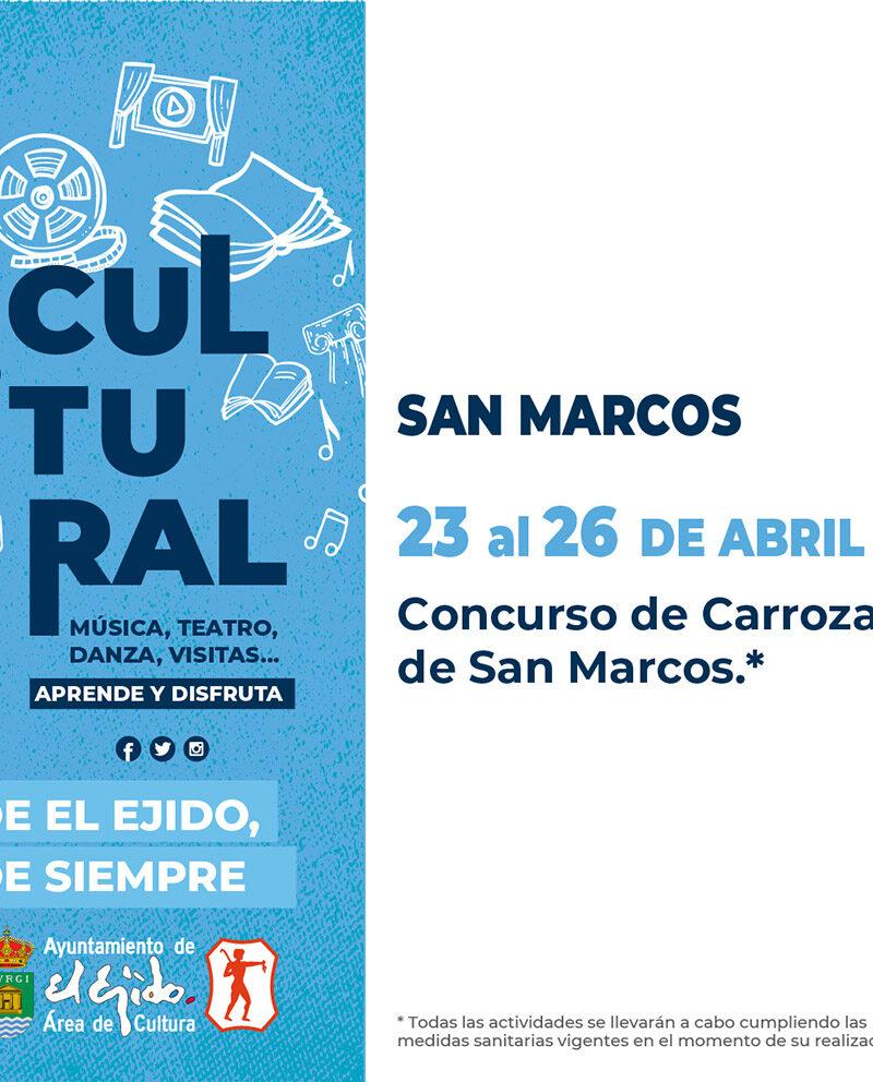 Concurso de carrozas de San Marcos del 23 al 26 de abril – El Ejido Cultural 2021