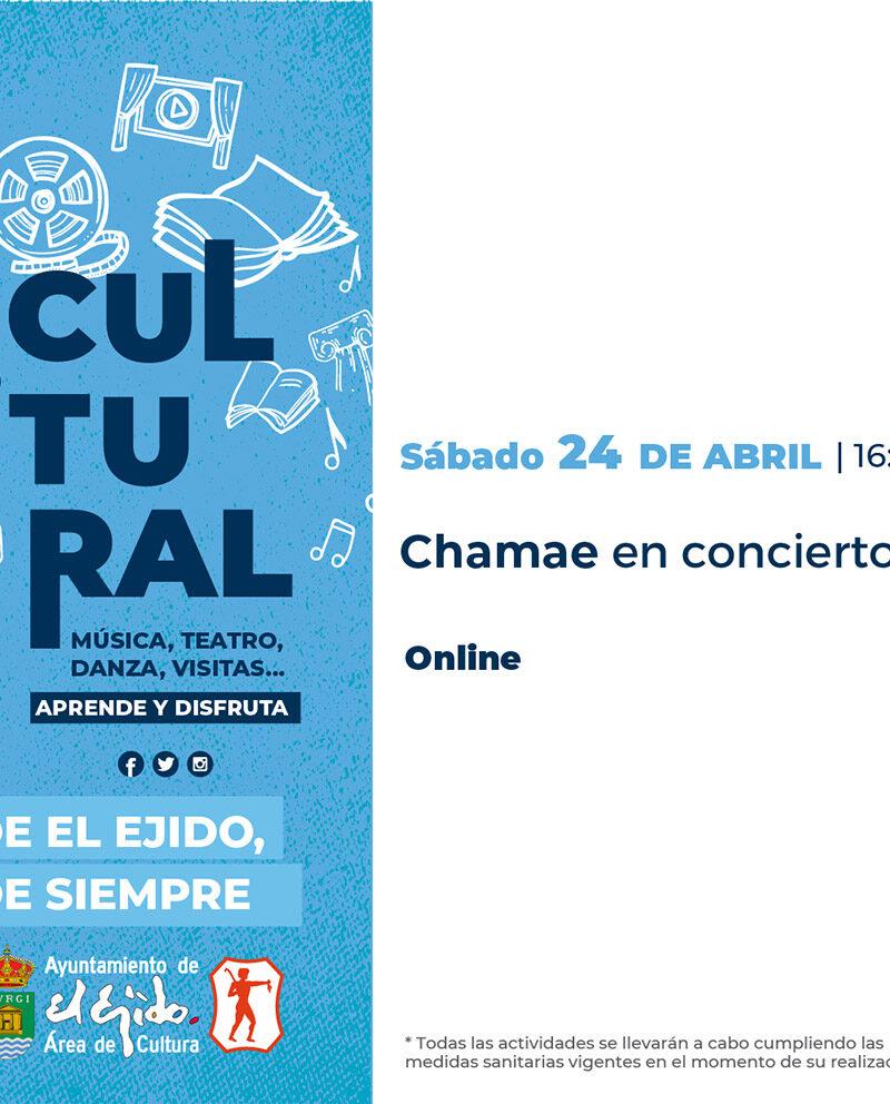 Chamae en concierto 24 de abril – El Ejido Cultural 2021