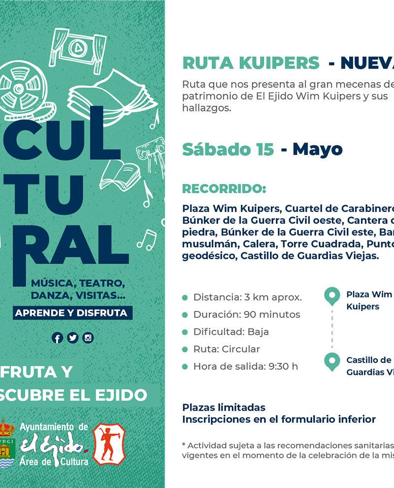 Ruta Kuipers 15 de mayo – El Ejido Cultural 2021