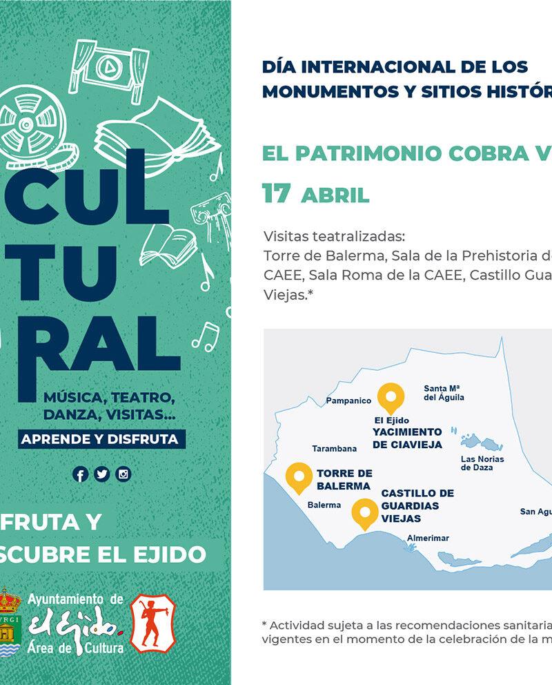 Visitas teatralizadas Día internacional de los monumentos y sitios históricos 17 de abril – El Ejido Cultural 2021
