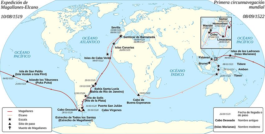 Otoño Cultural 19 – Exposición – V Centenario de la primera vuelta al mundo Magallanes-Elcano