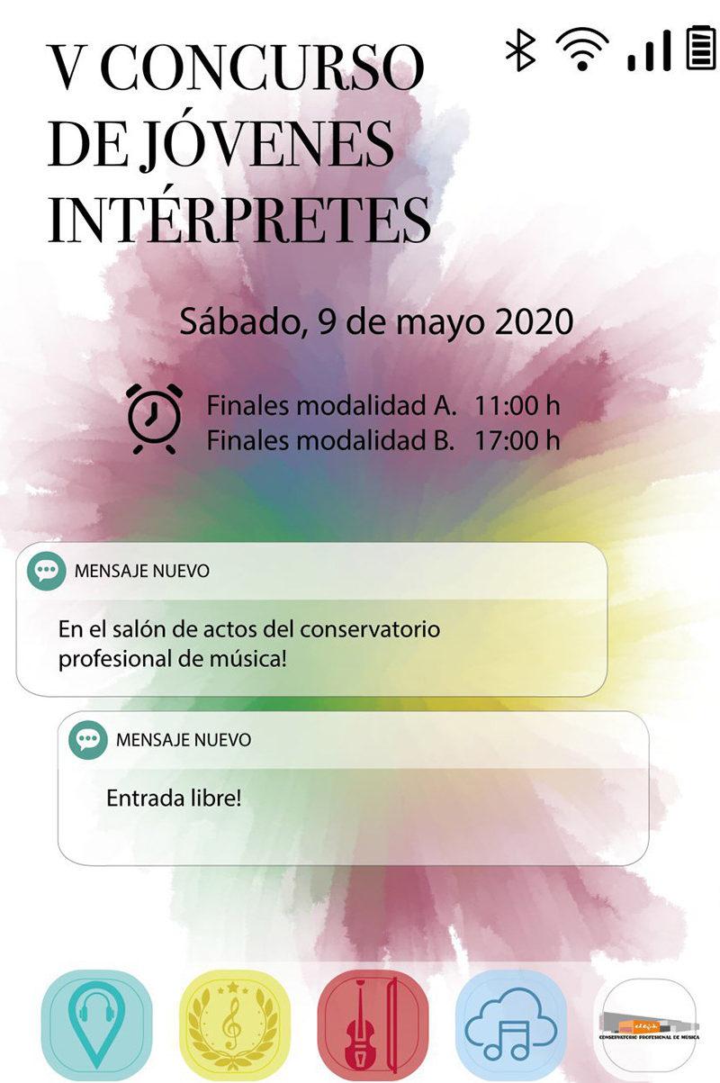 """Otras actividades: Conservatorio """"V Concurso de Jóvenes Intérpretes"""""""