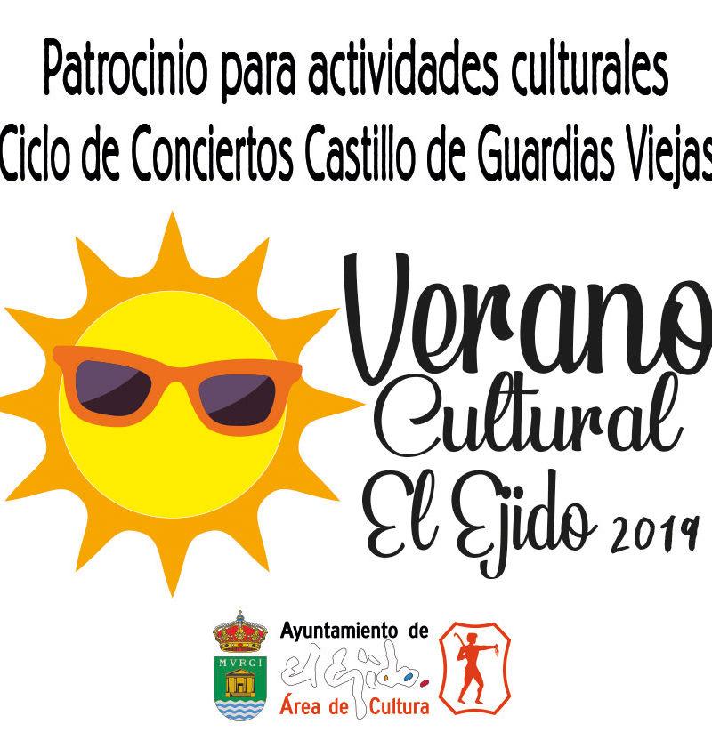 Patrocinio para actividades culturales verano Castillo de Guardias Viejas (ciclo de conciertos) 2019